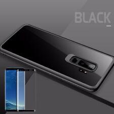 Para Samsung Galaxy S9 Plus Original Rock Silicona Funda Negro +4d Cristal