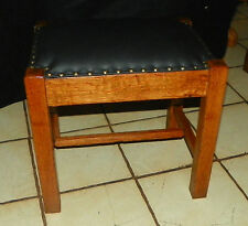 Quartersawn Oak Mission Footstool / Stool  (ST148)