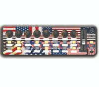 American Flag US Midi Control Surface Skin Overlay for Behringer X Control Mini