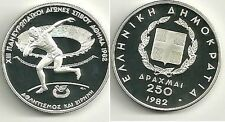 1982 Greece Large Silver Proof 250 drachma-Shot Put