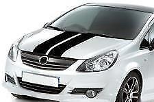 "VS1 BLACK Twin Body Stripes Viper Style 4m(13')x8cm(3"") fits ASTON MARTIN"