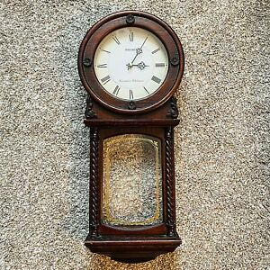 Seiko Quartz Pendulum Wall Clock Westminster Whittington Chimes Wood