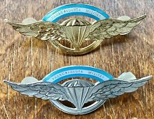 Two paratrooper (golden & silver) Brevet the of Officers & NCO of Argentine Army