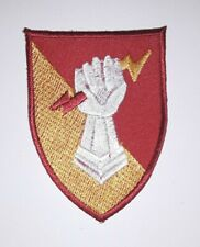 Military Red And Yellow Fist Holding A Lightning bolt New Iron On Patch