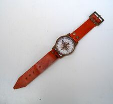Antique wrist watch compass marine brass nautical collectible maritime gift item
