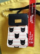 Luv Betsey Johnson Pink Black Kitty Crossbody Purse