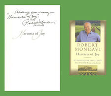 ROBERT MONDAVI Autographed Inscribed Signed Book Harvest Of Joy Wine Winery