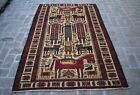 4'4 x 7'3 Handmade afghan tribal high quality maliki pictorial design kilim rug