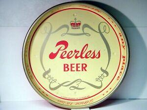 Scarce PEERLESS BEER Tray, La Crosse Breweries, La Crosse, Wisconsin Two-Sided