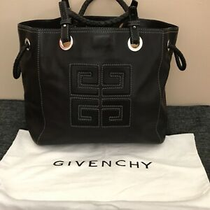 Givenchy Black Leather Large Handbag