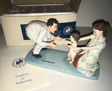 """Signed Norman Rockwell American Family """"Baby's First Step� Porcelain Figurine"""