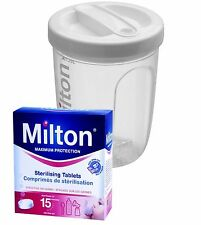 Milton Travel/Portable Cold Water/Microwave Bottle Steriliser Inc 28 Tablets