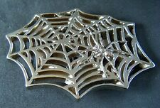Black Spider Web Widow Net Man Gothic Punk Belt Buckle  Boucle de Ceinture