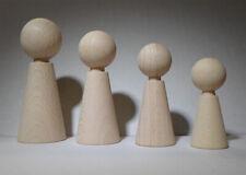Figurenkegel konisch 80 mm hoch mit Hals #4580 Buche unlackiert