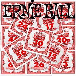 Ernie Ball Slinky Guitar Strings - SINGLE STRING PACKS -- All Gauges --