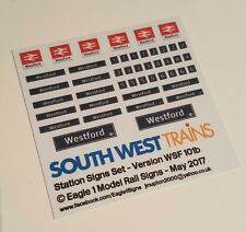 N Scale South West Trains Station Signs Set Later Version