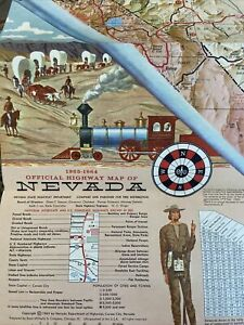6 VINTAGE 1964-1994 Nevada Highway /road  Maps/AAA