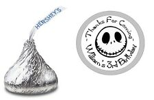 108 JACK SKELLINGTON HERSHEY KISS KISSES LABELS STICKERS BIRTHDAY PARTY FAVORS