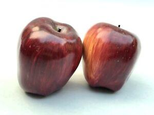 2 Realistic Artificial RedDelicious Decorative Apples Heavy