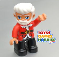 *NEW* LEGO DUPLO Santa Clause Figure Winter Christmas Tree Present Red Suit