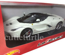 Hot wheels Ferrari LaFerrari 2014 New Enzo 1:18 Diecast Model Car BLY54 White