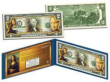 USA $2 Dollar Bill MONA LISA Leonardo Da Vinci 1503-1519 Masterpieces Painting