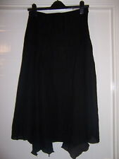 FASHION DEBUT BLACK SHEER FLOATY SKIRT LACE DETAIL 12