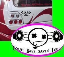 Loud Bass saves Life SUBWOOFER ADESIVO STICKER JDM OEM Shocker