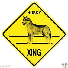 Husky Dog Crossing Xing Sign New