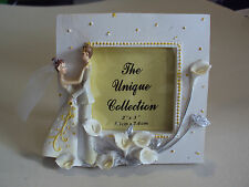 PHOTO FRAME VINTAGE MINIATURE MARRIAGE  COLLECTIBLE HOME DECOR DOLLHOUSE