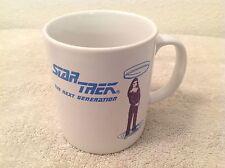 Star Trek~The Next Generation Coffee Mug~Deanna Troi~Marina Sirtis~Heat Reactive
