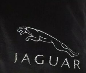 Black  Lightweight Fleece Blanket With Embroidered Jaguar Style  Logo