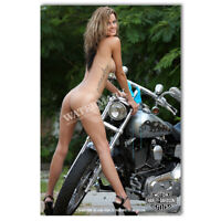 Z • 614 HARLEY DAVIDSON LOCKER MAGNET CUTE GIRL MINI POSTER OTHER COLLECTIBLE