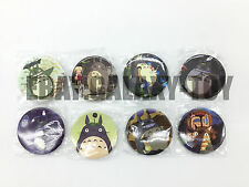 My Neighbor Totoro 4.3 CM 8x LOTS PIN back BADGES BUTTONS PARTY BAG GIFT CLOTH