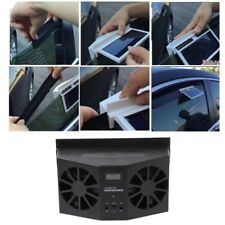 Car Window Windshield Solar Power Air Vent Cool Exhaust Dual Fan System Cooler