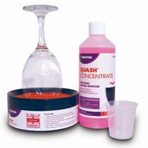 Quash Proton Lipstick Remover Intro Kit pre-wash glasses bar pub FREE P&P