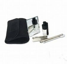 SNORTER SNIFFER SNUFF TUBE POWDER DISPENSER SUEDE KIT POUCH LARGE FREE P&P