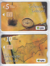 Cyprus set of 2 phonecards 50 years Cyprus Republic 500ex 11/10 mint