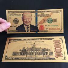 10x U.S Donald Trump 24K Gold Plated 1 Million Dollars Bill Bookmark Novelty