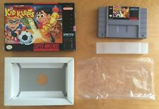 THE ADVENTURES OF KID KLEETS - CART & BOX ONLY GOOD COND - SNES SUPER NINTENDO