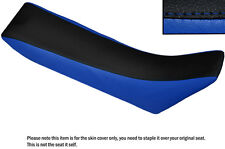 BLACK & R BLUE CUSTOM FITS YAMAHA SEROW XT 225 92-02 DUAL LEATHER SEAT COVER