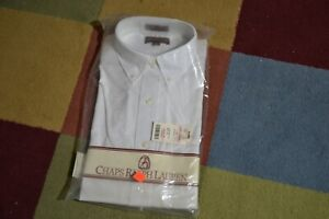 VTG Long Sleeve Ralph Lauren POLO 16 32/33 White Dress Shirt NWT Sealed Made USA
