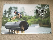 """RONIX MASSI BANNER NEW! 48"""" * 30"""" 2 Free Ronix Wakeboard Stickers Decal"""