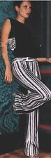 GUCCI TOM FORD RUNWAY Giselle Black White Zebra Beaded Sequin Pants IT42