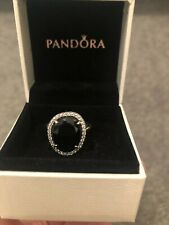 Pandora Sterling Silver, Black Spinel & Cubic Zirconia Ring