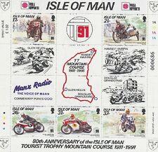 INSEL MAN - 1991 TOURIST TROPHY MOTORRAD AUFDRUCK PHILA NIPPON BLOCK 15 I **