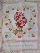 1982 Strawberry Shortcake~Friends are the berries~Twin Flat Bed Sheet Fabric
