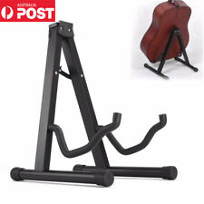 Portable Electric Acoustic Bass Guitar Folding Stand A Frame Floor Rack Holder
