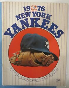 1976 NY Yankees Opening Day New Stadium Program and Ticket Stub