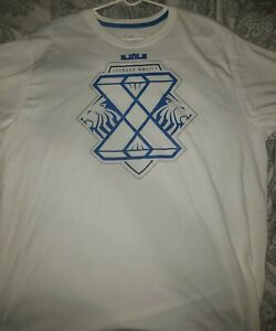 Nike LeBron James X Blue Diamond T-shirt Tee Size XXL BNWT
